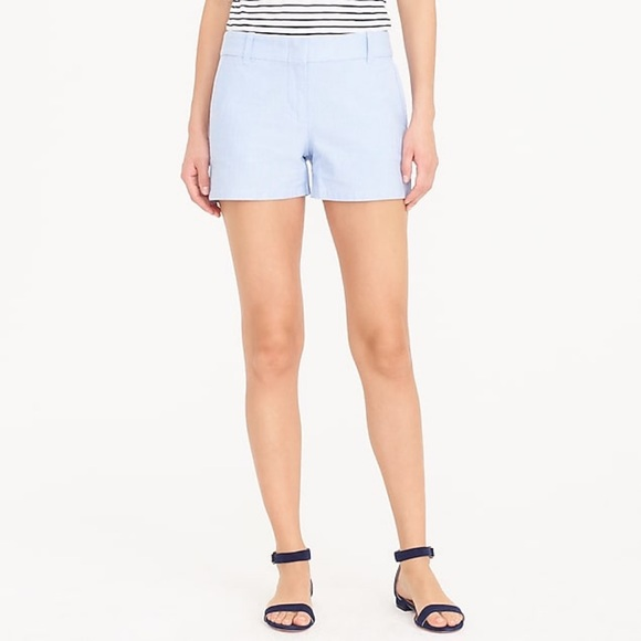 J. Crew Pants - J. Crew Blue Oxford Shorts Size 8